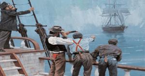 La découverte de la Mary Celeste par l'équipage du Dei Gratia