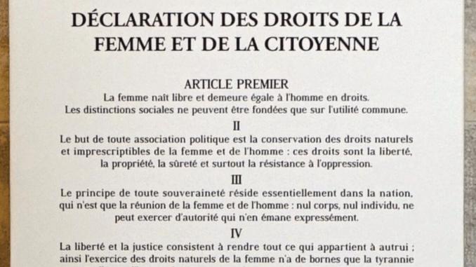 déclaration des droits de la femme et de la citoyenne.