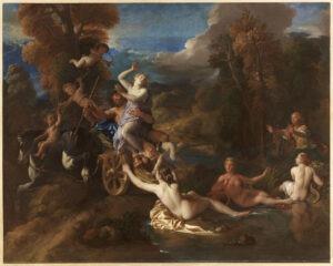 Représentation du tableau présenté par Charles e la Fosse à l'Académie, l'Enlèvement de Proserpine.