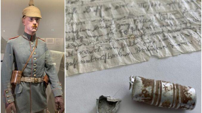Message perdu par un pigeon voyageur pendant la première guerre mondiale
