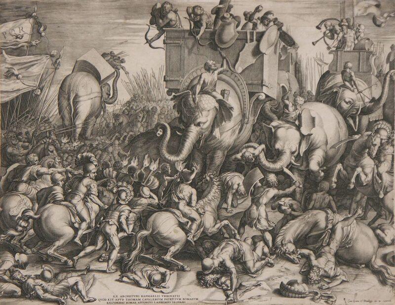 Des cheva... euh... des éléphants à la guerre dans l'Antiquité !