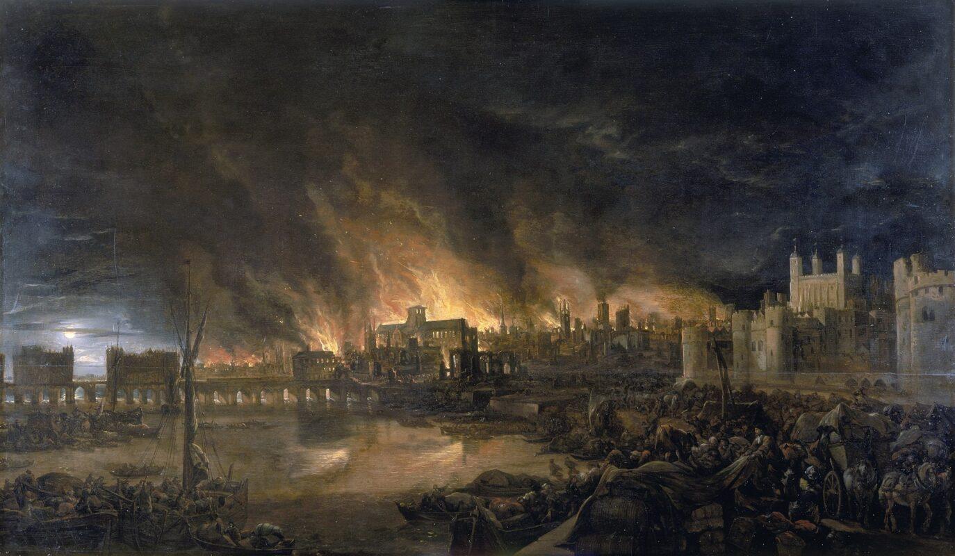 Londres : retour sur le grand incendie qui ravagea la ville en 1666 ! - Cultea