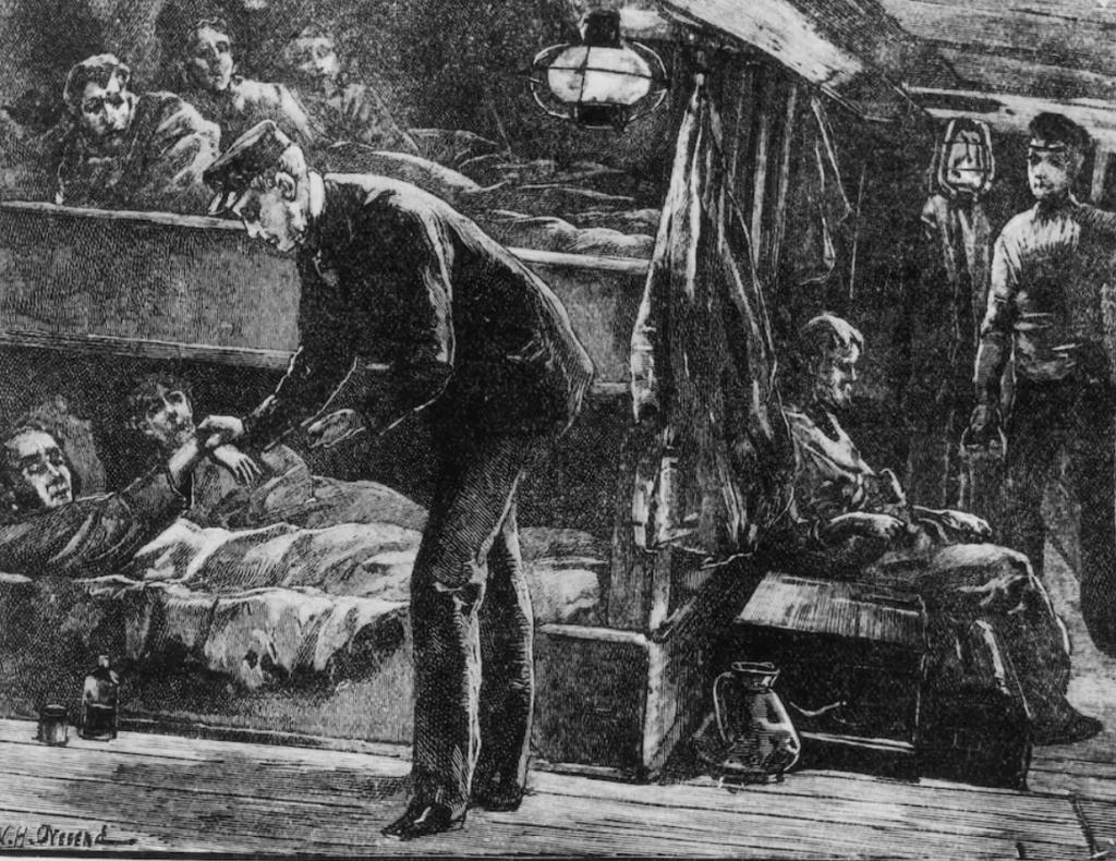Des irlandais à bord d'un navire à destination des Etats-Unis - Cultea