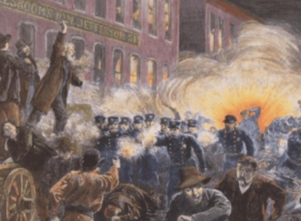 Manifestation du 1er mai 1886 à Chicago