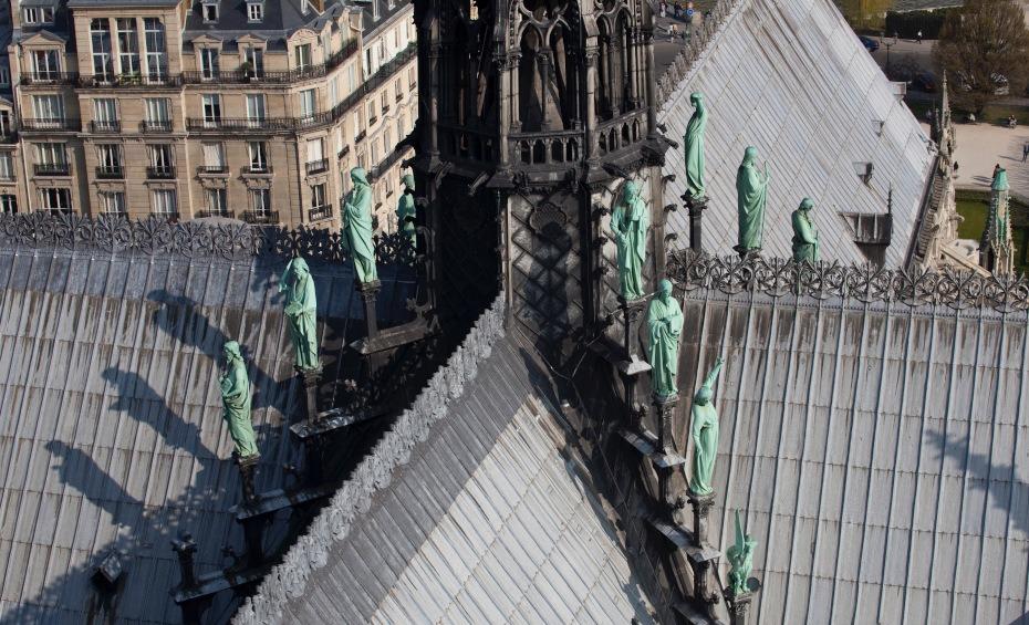 Les statues de la flèche de Notre-Dame avant l'incendie - Cultea