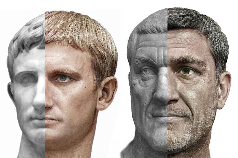 Un artiste modélise les visages de plusieurs empereurs romains !