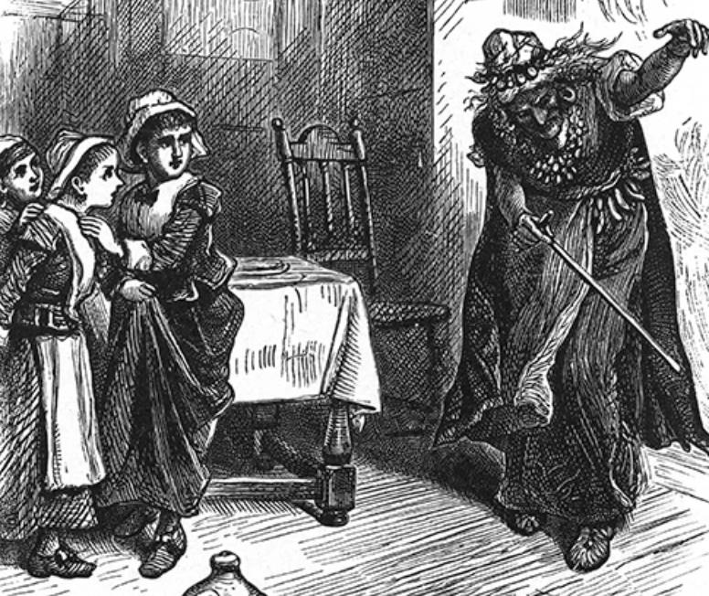L'esclave Tituba avec Elizabeth Parris, Abigail Williams et Ann Putnam.