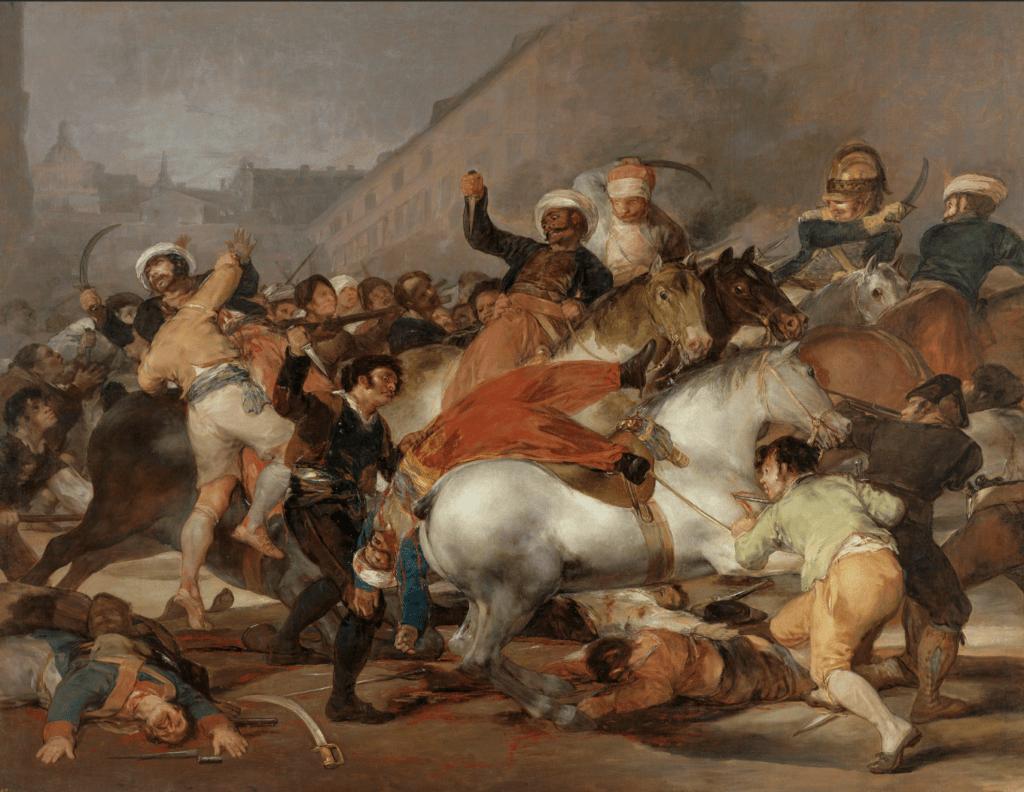 El dos de mayo de 1808 en Madrid, Francisco de Goya, 1814 - Cultea