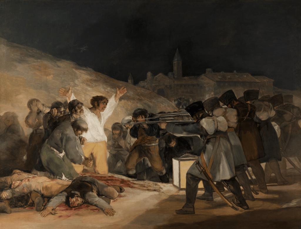 El tres de mayo de 1808 en Madrid, Francisco de Goya, 1814 - Cultea
