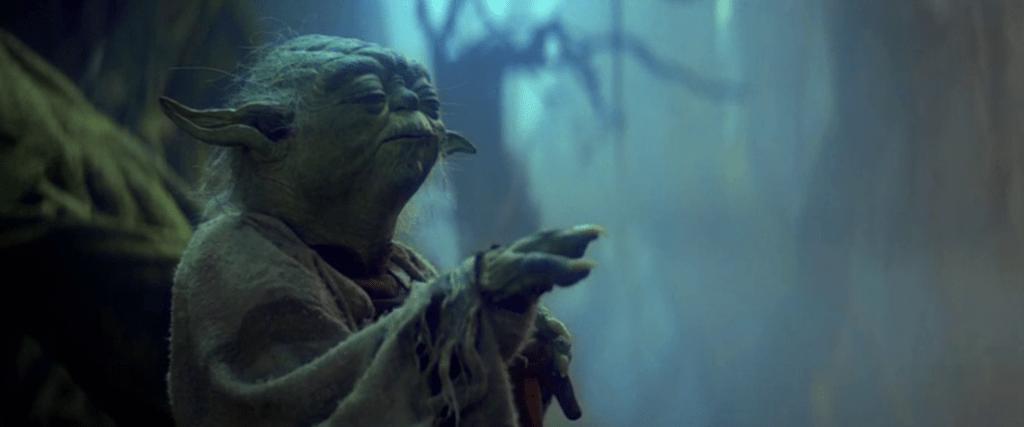 Maître Yoda utilisa la force dans Star Wars : Episode V - L'Empire Contre-Attaque - Cultea