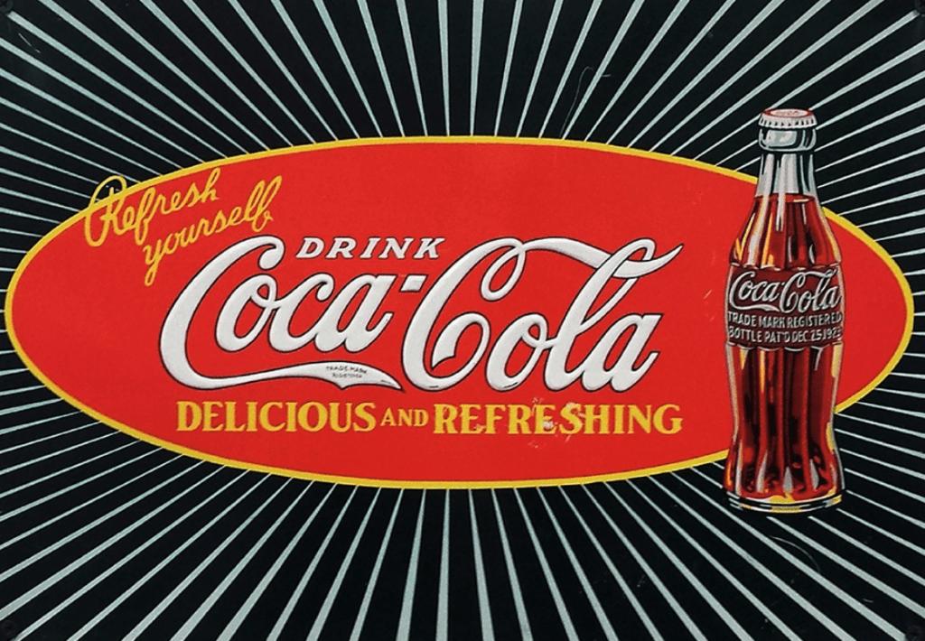 Ancienne publicité pour le Coca-Cola - Cultea