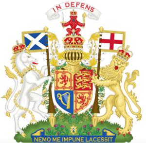 Armoiries du Royaume-Uni après 1603. - Cultea