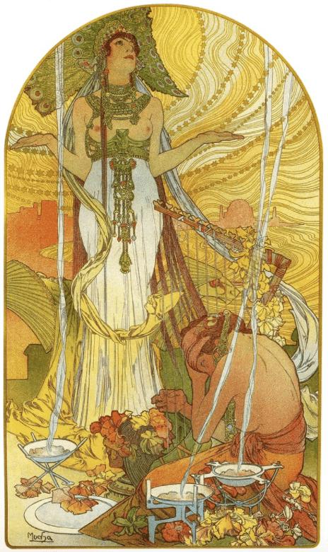 Alphons Mucha (1860-1939), Incantation, 1897. Lithographie sur vélin fin. - Cultea