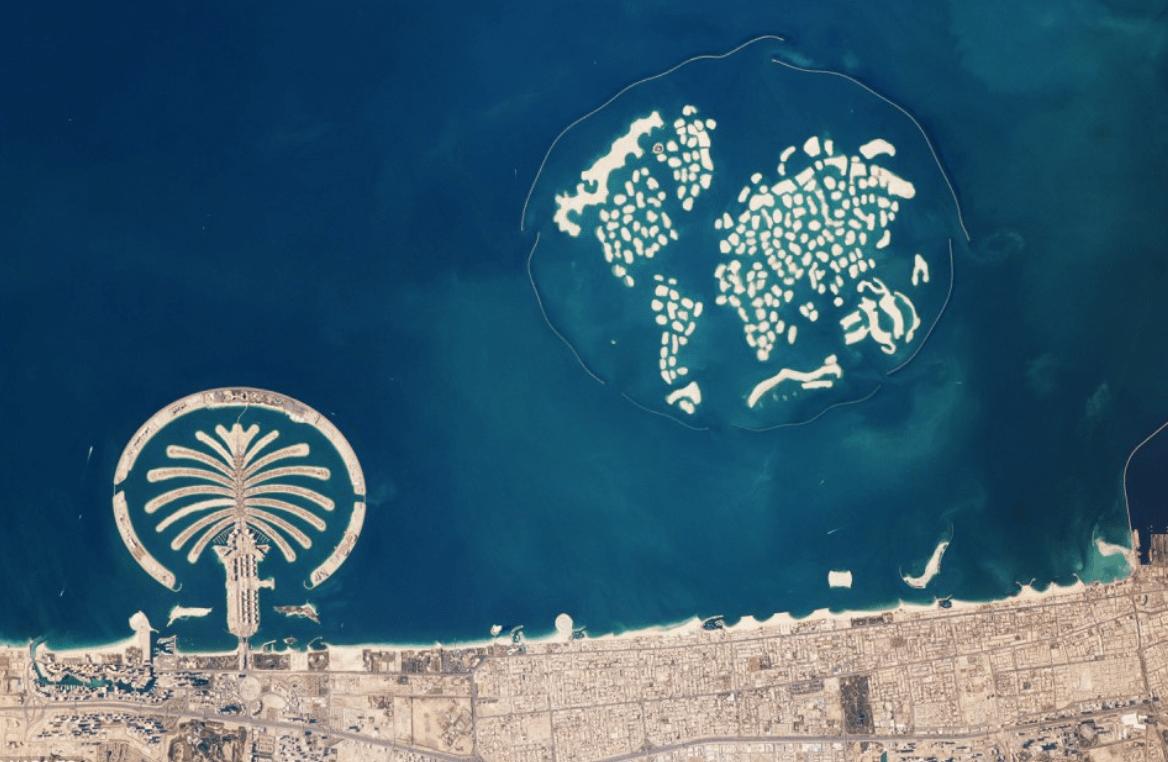 """""""The World"""" à Dubaï, les îles artificielles qui représentent le monde - Cultea"""