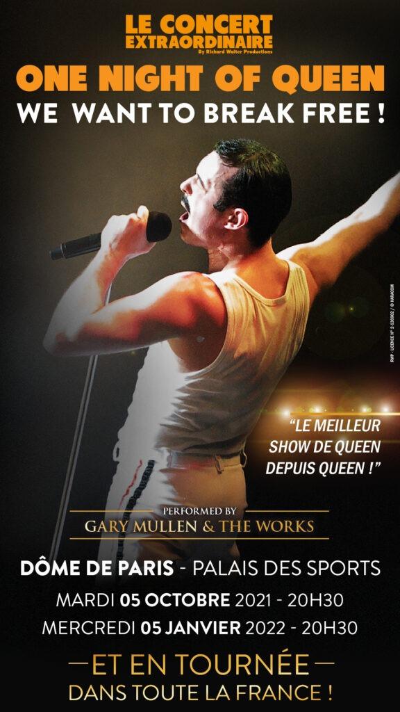 One Night of Queen, Tournée française 2021 - Cultea