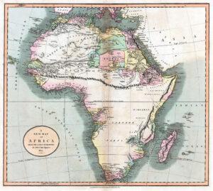Carte de l'Afrique datant de 1805 et figurant les monts de Kong - Cultea