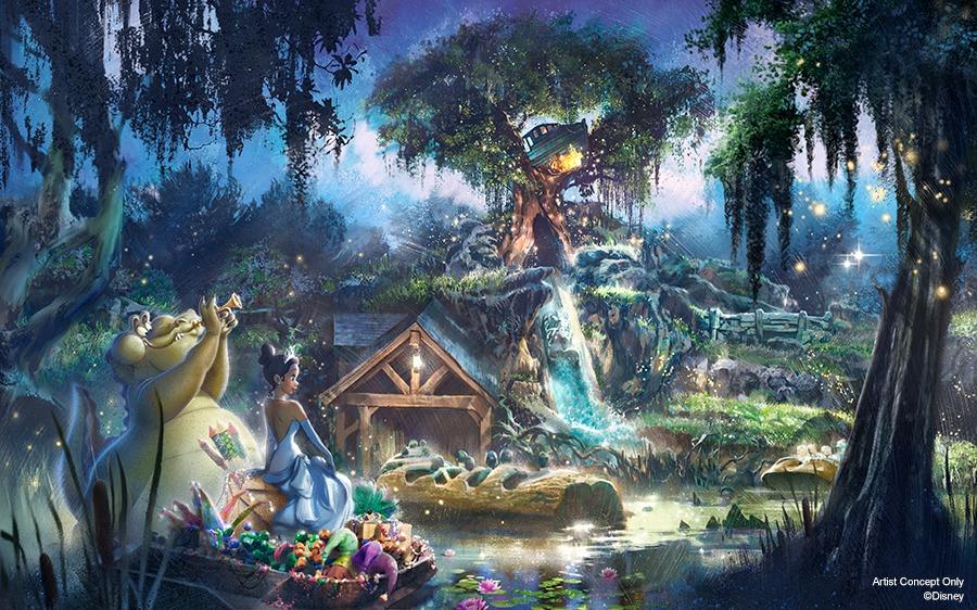 """Une attraction """"La Princesse et la Grenouille"""" inédite dans les parcs Disney"""